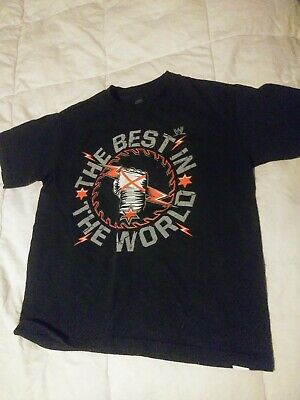 CM PUNK BEST IN THE WORLD KIDS BLACK T-SHIRT, (SIZE kids 6) (Best Kid In The World)