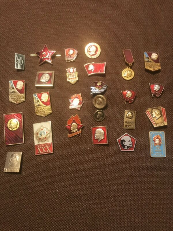 Soviet Lennin Pin Collection