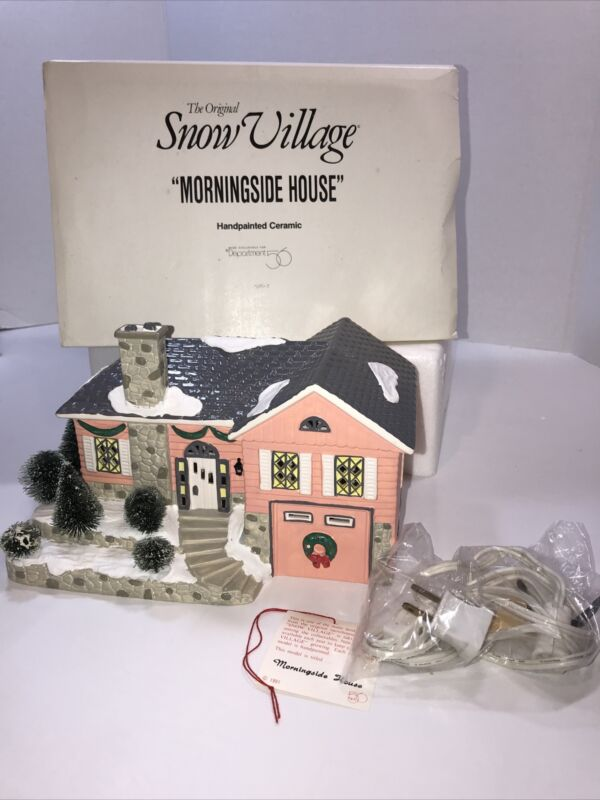 "Dept 56 The Original Snow Village Retired  ""Morningside  House"" #5152-7"