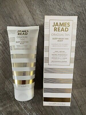 James Read Gradual Tan Sleep Mask Tan Body Light Medium 100ml Boxed.