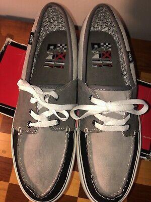 Vans Suede Canvas  Navy Blue / Gray Mens Shoes Size 13