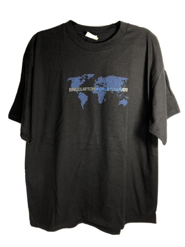 Eric Clapton 2001 Local Crew Thank You World Tour T-Shirt XL VTG Winterland NOS