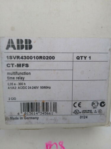 ABB 1SVR430010R0200 MULTIFUNCTION TIME RELAY