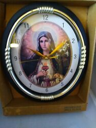 Blessed Virgin Mary Immaculate Conception Wall Clock Religious Quartz