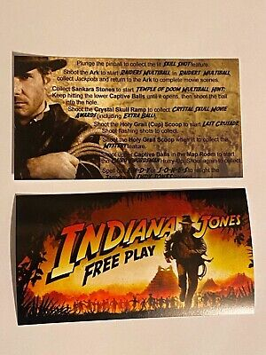 Indiana Jones Pinball Party Stern Pinball Apron Instruction Cards