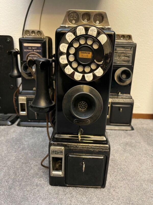 1930 Gray/Western 55G 3 Slot Payphone Updated 1950s To 10 cents. Original parts