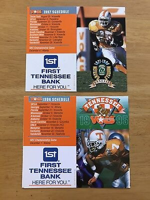 DOUBLE DEAL! CFB 2 Diff TENNESSEE VOLUNTEERS VOLS Football Schedules 1995 1996