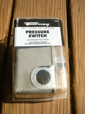Forney Pressure Switch For Air Compressor 75556 Cut In 95 Psi Cut Out 125 Psi