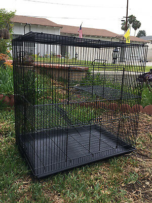 3 Level Black Chinchilla Guinea Pig Mouse Rat Mice Degu Rabbit Glider Cage 471