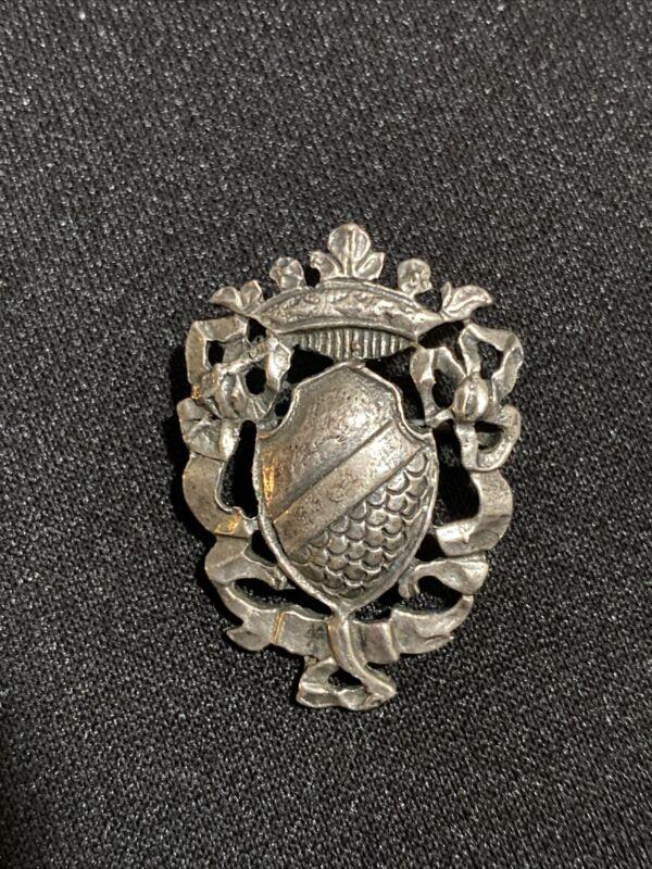 VINTAGE Sterling Silver by CINI Brooch Pin  shield-5.20 Grams