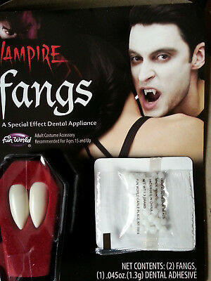 Vampirzähne Make up Theater  Halloween Dracula Zähne Fasching NEU