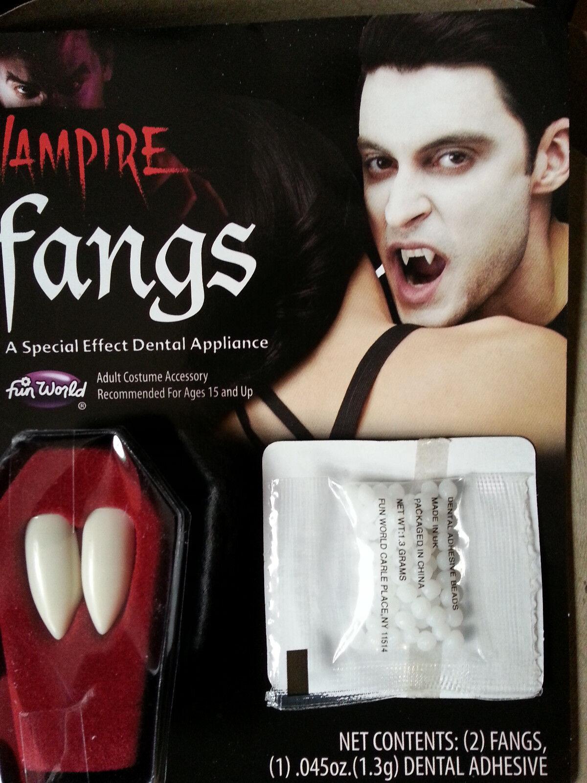 Vampirzähne Make up Theater  Halloween Dracula Zähne Fasching NEU