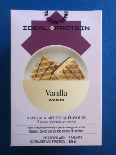 Ideal Protein Vanilla Flavoured Wafers - 7 Packets - EXP 1/31/21  FREE SHIPPING!