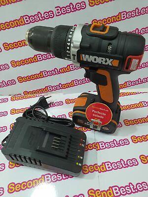 Taladro atornillador Worx WX373.3 20V Cargador y Batería 72W Nuevo Desprecintado