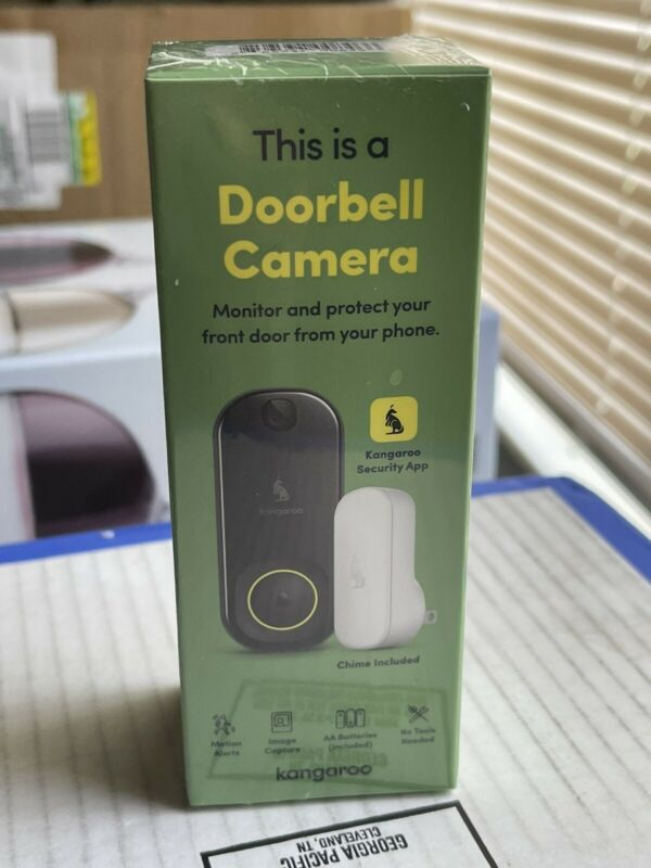 Kangaroo Smart Doorbell Camera + Indoor Chime🚪🔔 Brand New