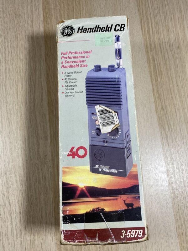 GE 3-5979A 40 Channel Handheld CB Transceiver General Electric Vintage Walkie