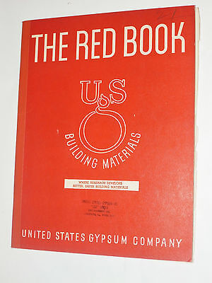 Vintage 1940 Usg United States Gypsum Catalog  Asbestos Cement Siding   Roofing