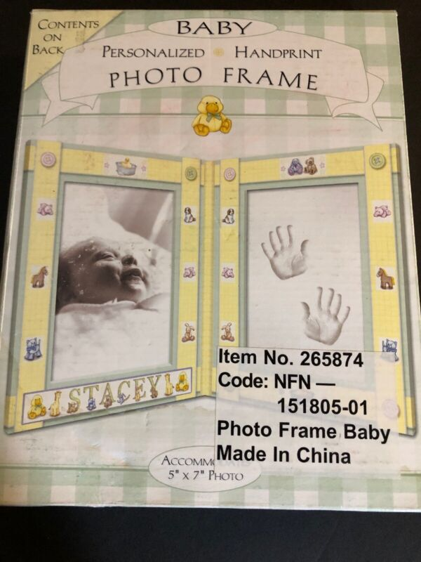 Baby Personalized Hand Print Photo Frame #265874 T.A.R. Design