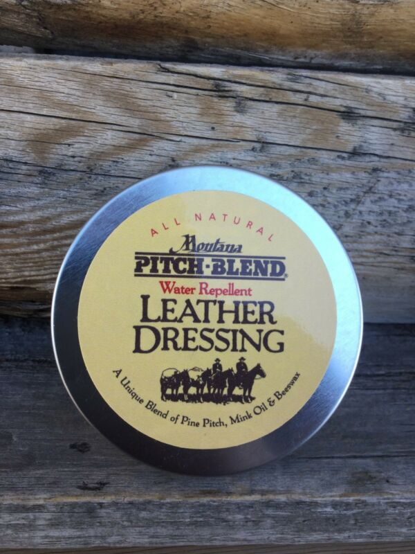 Montana Pitch Blend Leather Dressing 3 oz Tin! Natural Leather Conditioner, USA
