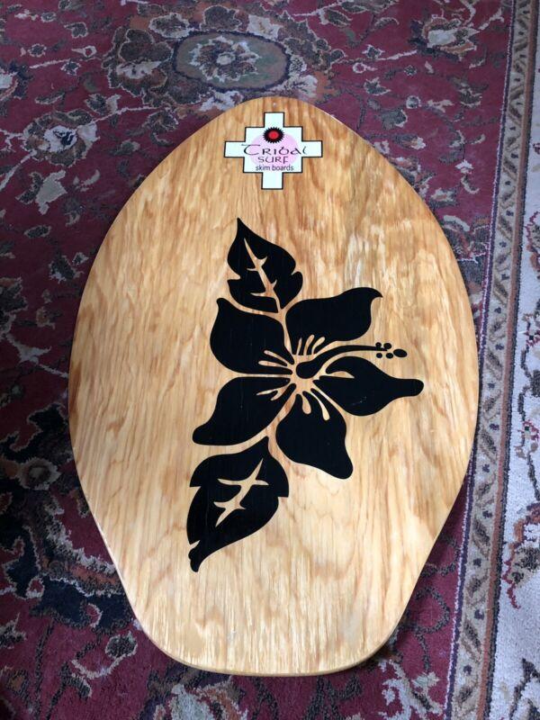 TRIBAL SURF Graphic WOOD Boogie Body SKIM Board Water Sports BEACH Decor
