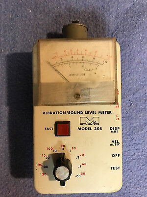 Ird 308 Vibrationsound Level Meter W