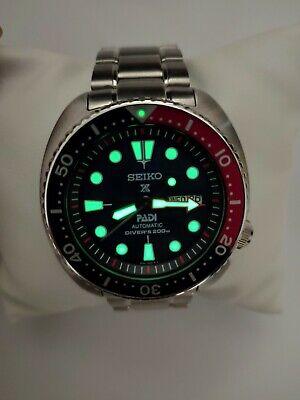 Seiko Prospex SRPA21K1 PADI Turtle Automatic Diver's WR 200M Pepsi Men's Watch