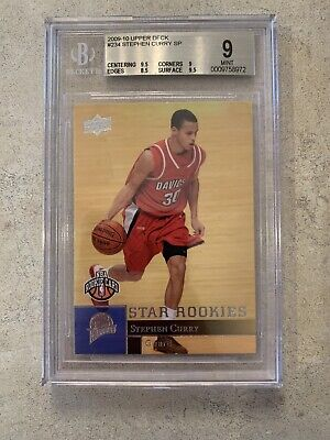2009-10 Upper Deck Stephen Curry Rookie Card BGS 9 #234