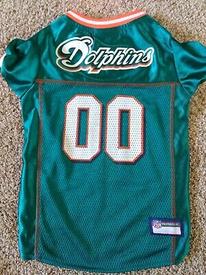 Halloween Miami Dolphins (Pets First NFL MIAMI DOLPHINS Mesh Football Jersey Dog Halloween Costume)