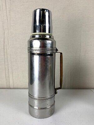 Vintage Thermos Vacuum Bottle Aladdin Stanley A5401BG 1 Quart QT Chrome