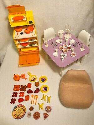 Vintage Barbie Dream House Furniture Kitchen Lot