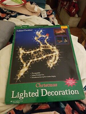 Vintage JMC Impact Christmas Lighted Indoor Outdoor Reindeer Decoration