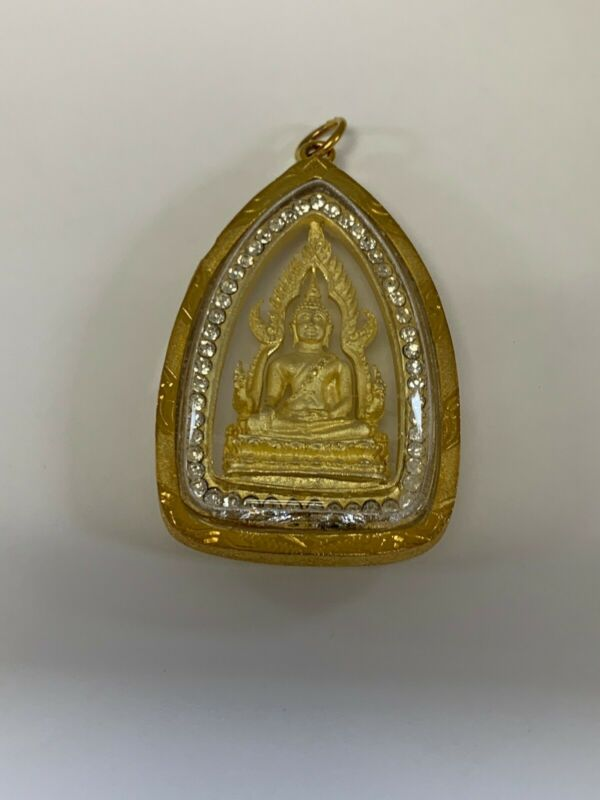 THAI AMULET, PHRA, GOLD, DIAMONDS, LARGE - BRAND NEW
