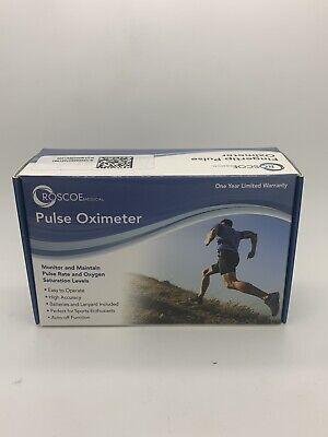 Roscoe Medical Finger Pulse Oximeter O2 Monitor Pulse Ox Finger Oxygen New H