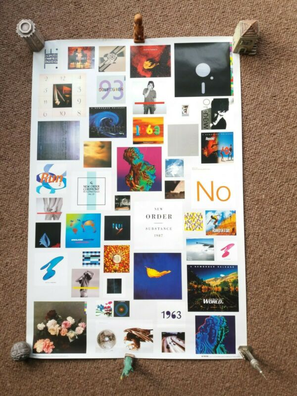 New Order 2005 Concert Poster Showing Sleeves bought at the Apollo Gig 14.11.05