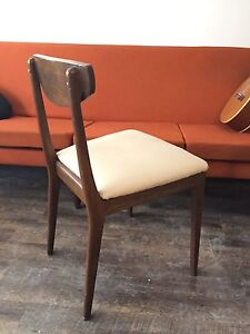 6 surfboard mid century chairs and table