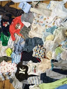Lot of NB & 0-3 Mo Clothes (60+ pieces)
