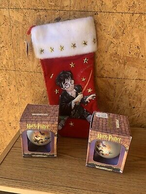 Harry Potter Christmas Holiday Stocking 2000 & 2 Ornaments Bundle