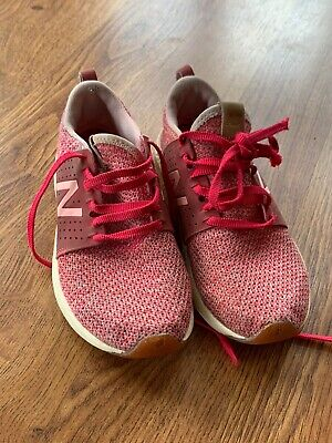 New Balance Girls Size 2 Sneakers Shoes Pink
