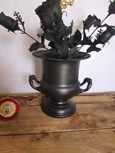 Black metal decorative ice bucket vase urn trophy Campbelltown Campbelltown Area Preview