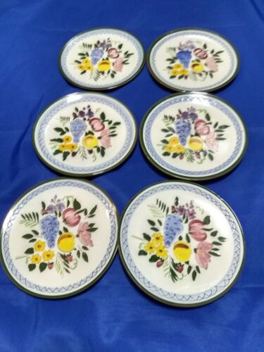 """LOT of SIX    STANGL       8"""" Plates       FRUIT AND FLOWERS"""