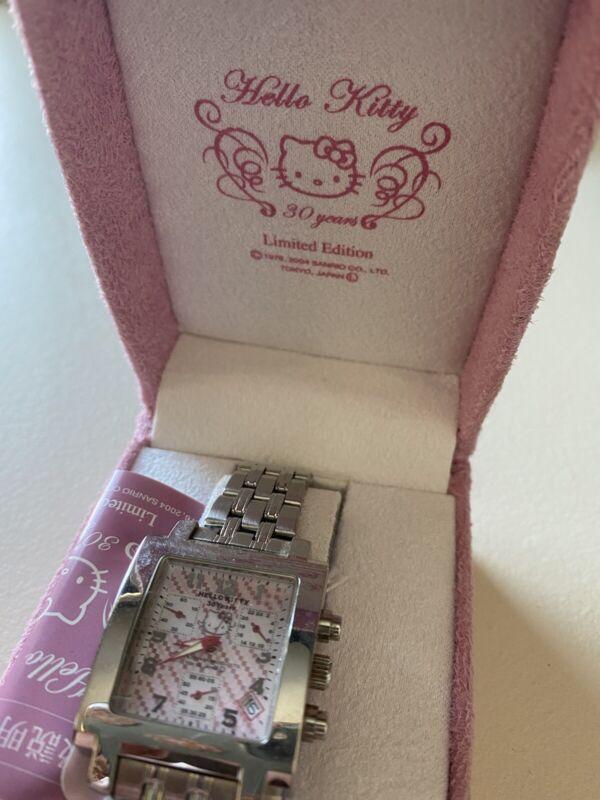 RARE!  Hello Kitty 30 Years Limited Edition Sanrio Watch