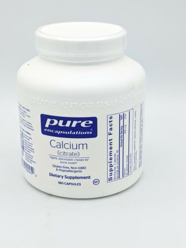 Pure Encapsulations - Calcium Citrate - Hypoallergenic, Highly-Absorbable - 180