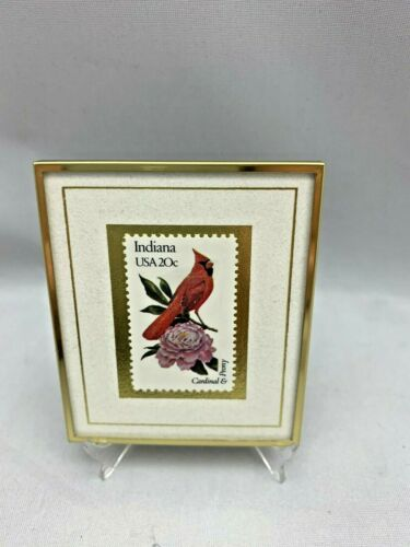 1991 HANFORD HEIRLOOM Indiana 20¢ Bird & Flower 1982 Cardinal Numbered STAMP USA