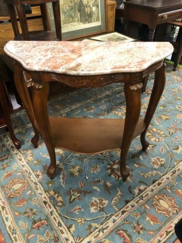Marble Top Entry Way Console Table PICK UP ONLY