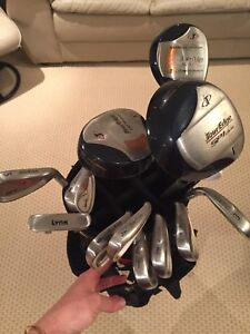 Tour Edge SPI Plus Clubs with Stand Bag & Push Cart
