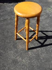 Stool Wooden Pine Eastwood Ryde Area Preview