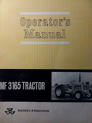 Massey Ferguson Mf 3165 Agricultural Farm Tractor Owners Maintenance Manual