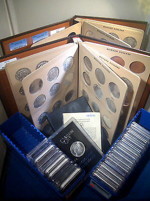 Click now to see the BUY IT NOW Price! 1893 S PCGS AU50 & COMPLETE DANSCO 1878   1921 COLLECTION MORGAN SILVER DOLLARS