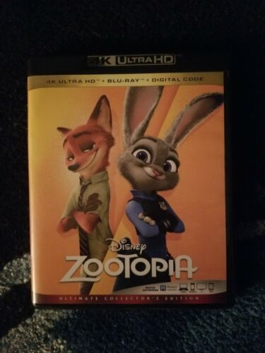 Zootopia 4K UHD Blu-ray Disk Only With Case And Artwork. - $13.99