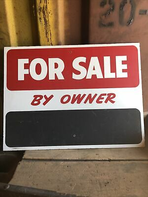 """Vintage For Sale By owner Masonite Advertising Chalkboard 18""""X24"""""""